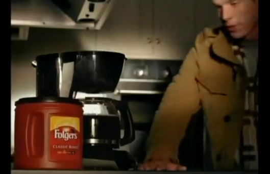 Matthew Alan smells some Folgers